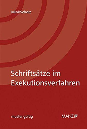 Schriftsätze im Exekutionsverfahren: Harald Mini