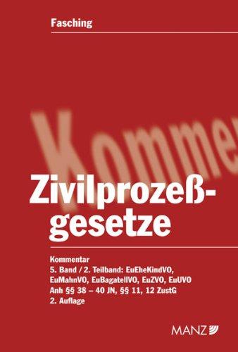 Kommentar zu den Zivilprozessgesetzen: Hans W Fasching