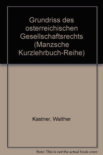 9783214048532: Grundriss des Österreichischen Gesellschaftsrechts