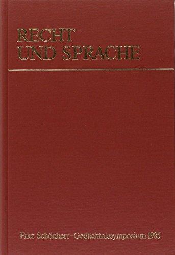 Recht und Sprache: Theo �hlinger