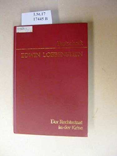 9783214060268: Der Rechtstaat in der Krise. Festschrift.