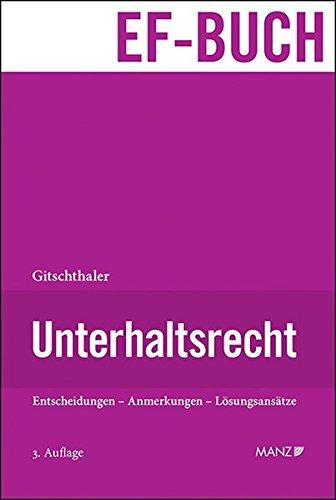 Unterhaltsrecht: Edwin Gitschthaler