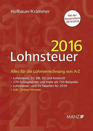 Lohnsteuer 2016: Josef Hofbauer