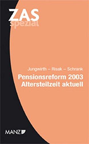 9783214087869: Pensionsreform 2003 (f. Österreich)
