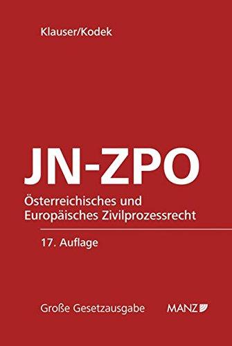 JN-ZPO Jurisdiktionsnorm und Zivilprozessordnung: Alexander Klauser