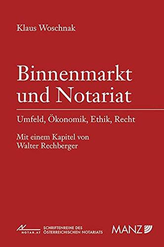9783214129262: Binnenmarkt und Notariat