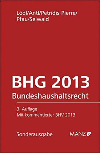 9783214133108: Bundeshaushaltsrecht - BHG. Österreichisches Recht
