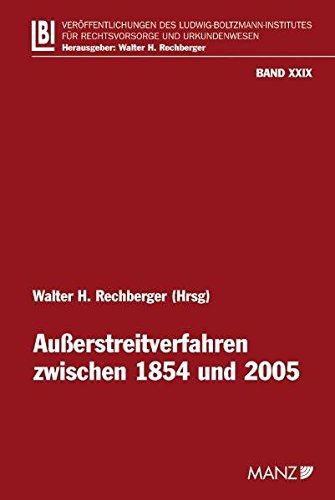 9783214143039: Ausserstreitverfahren zwischen 1854 und 2005