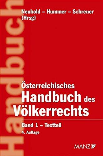 9783214149130: Österreichisches Handbuch des Völkerrechts, 2 Bde.