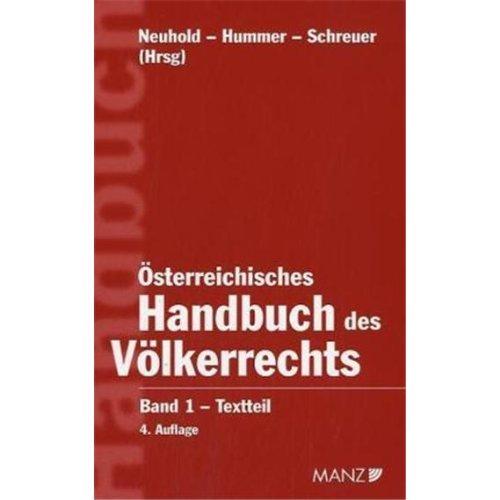 9783214149147: Österreichisches Handbuch des Völkerrechts: Band 1: Textteil. Band 2: Materialienteil