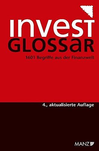 9783214155353: Investglossar: 1588 Begriffe aus der Finanzwelt