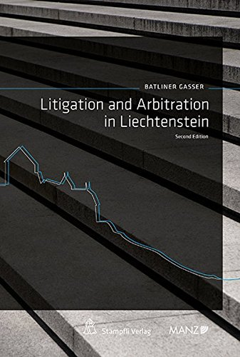 9783214176549: Litigation and Arbitation in Liechtenstein