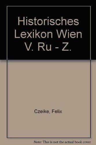 Historisches Lexikon Wien V. Ru - Z
