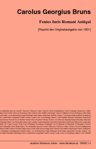 9783226003901: Fontes Iuris Romani Antiqui: [Reprint der Originalausgabe von 1901] (Latin Edition)