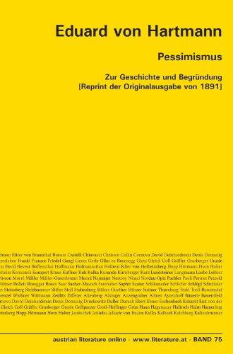 Pessimismus: Zur Geschichte und Begründung [Reprint der Originalausgabe von 1891] (German Edition) (3226003984) by Eduard von Hartmann