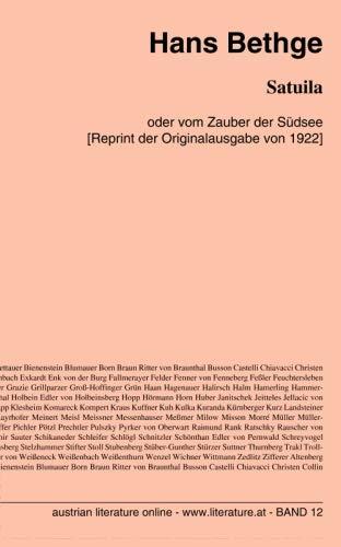 9783226004342: Satuila: oder vom Zauber der Südsee [Reprint der Originalausgabe von 1922]