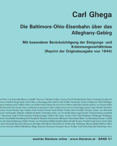 9783226004915: Die Baltimore-Ohio-Eisenbahn über das Alleghany-Gebirg: Mit besonderer Berücksichtigung der Steigungs- und Krümmungsverhältnisse [Reprint der Originalausgabe von 1844]