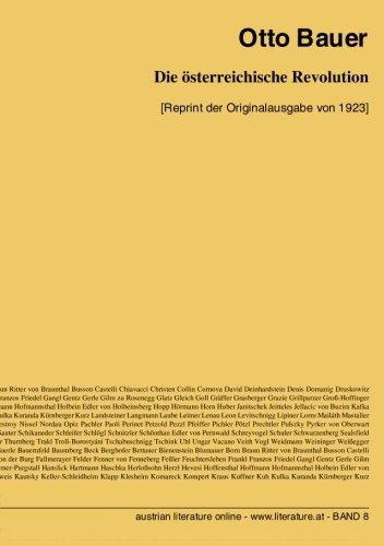 9783226005011: Die österreichische Revolution: [Reprint der Originalausgabe von 1923]