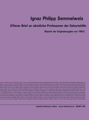 Offener Brief an s?mtliche Professoren der Geburtshilfe: Semmelweis, Ignaz Philipp
