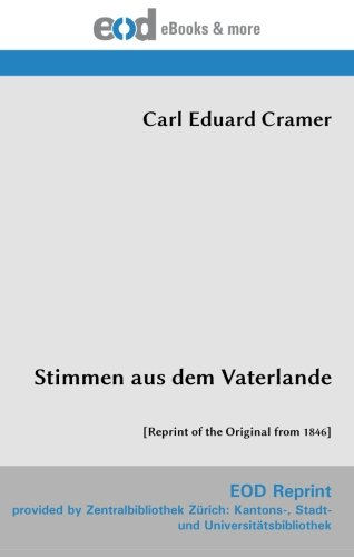 9783226013801: Stimmen aus dem Vaterlande: [Reprint of the Original from 1846]