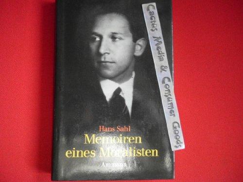 9783250100171: Memoiren eines Moralisten. Erinnerungen I.