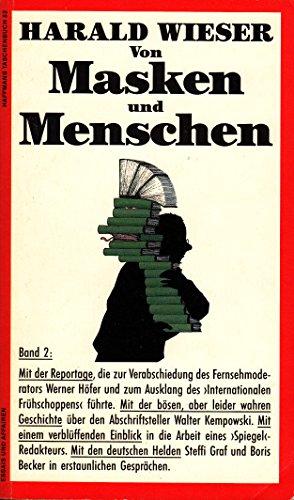 9783251010820: Von Masken und Menschen II. Essays und Affairen