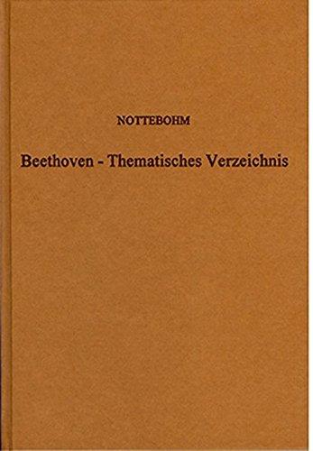 9783253020919: Ludwig von Beethoven. Thematisches Verzeichnisnebst der Bibliotheca Beethoveniana.