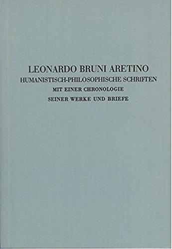 Quellen zur Geistesgeschichte des Mittelalters und der: Aretino, Leonardo Bruni