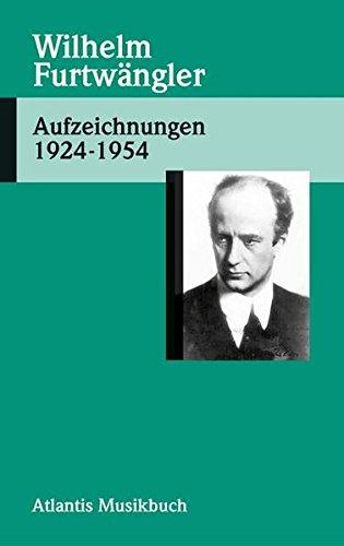 9783254002082: Aufzeichnungen 1924 - 1954