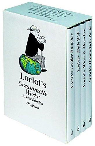 9783257060881: Loriot's Gesammelte Werke in vier Bänden: Großer Ratgeber/Möpse und Menschen/Heile Welt/Dramatische Werke