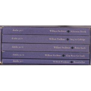 9783257204339: Gesammelte Erzählungen in 5 Bänden: Brandstifter / Eine Rose für Emily / Rotes Laub / Sieg im Gebirge / Schwarze Musik