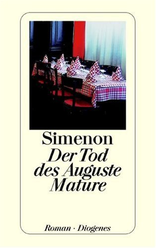9783257209877: Der Tod des Auguste Mature.