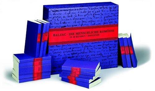 9783257232004: Die menschliche Komödie. In vierzig handlichen Taschenbuchbänden