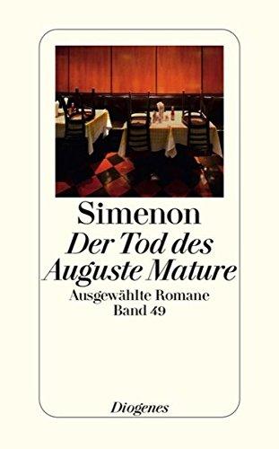 9783257241495: Der Tod des Auguste Mature