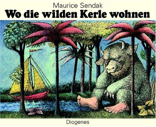 9783257251050: Wo die Wilden Kerle Wohnen = Where the Wild Things Are (German Edition)