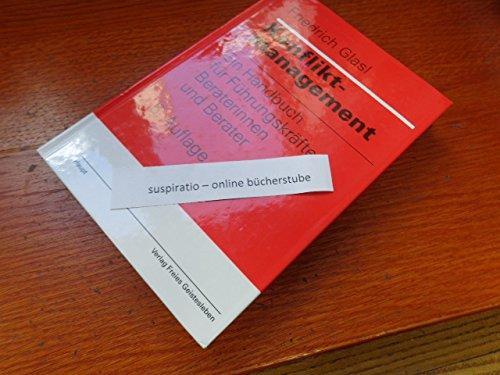 9783258055633: Konfliktmanagement. Ein Handbuch für Führungskräfte und Berater