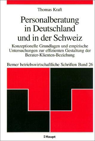 9783258064536: Personalberatung in Deutschland und in der Schweiz.
