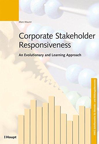 Corporate Stakeholder Responsiveness: Marc Maurer