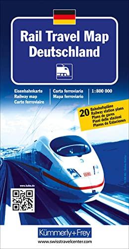 9783259001233: KuF Rail Travel Map Deutschland 1:800 000: Eisenbahnkarte (Kümmerly + Frey)