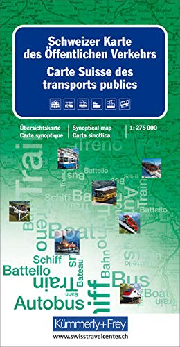 9783259001264: Switzerland Map of Public Transport 2014: KF.CH.OV