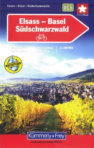 9783259005323: Elsass Basel Suedschwarzw Velokarte Biking Map