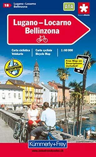 9783259005453: Lugano / Locarno Cycle Map Bellinzona: KF.VK.18