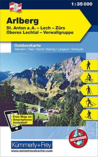 9783259007129: KuF Österreich Outdoorkarte 03 Arlberg 1 : 35 000: St. Anton a. A. - Lech - Zürs - Oberes Lechtal - Verwallgruppe