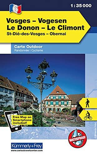 9783259007303: KuF Elsass / Vogesen Outdoorkarte 06 Vogesen - Le Donon - Le Climont 1 : 35 000