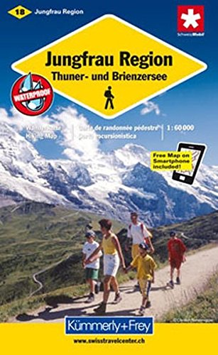 Jungfrau Region Hiking Map