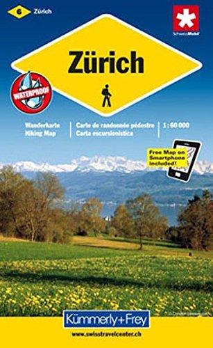 9783259008942: KuF Schweiz Wanderkarte 06 Z�rich 1 : 60 000: Sehensw�rdigkeiten. Unterkunft und Verpflegung. Autobuslinien mit Haltestellen. Neu mit Index. GPS