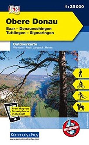 9783259009475: KuF Deutschland Outdoorkarte 53 Obere Donau 1 : 35 000: Baar - Donaueschingen - Tuttlingen - Sigmaringen