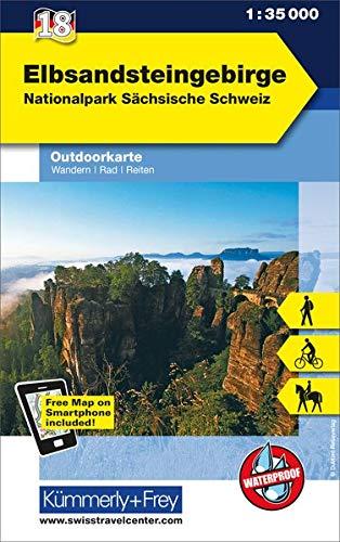 9783259009673: KuF Deutschland Outdoorkarte 18 Elbsandsteingebirge 1 : 35.000: Nationalpark Sächsische Schweiz. Wandern, Rad, Reiten