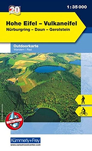 9783259009697: KuF Deutschland Outdoorkarte 20 Hohe Eifel - Vulkaneifel 1 : 35.000: Wandern, Rad. Nürburgring, Daun, Gerolstein