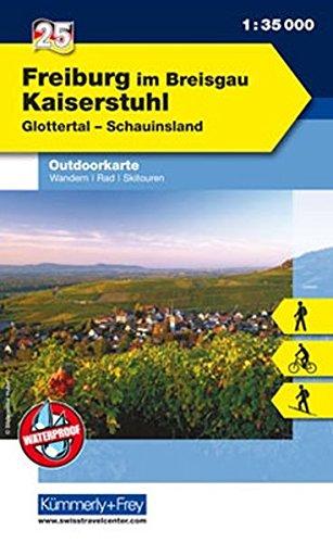 9783259009741: KuF Deutschland Outdoorkarte 25 Freiburg im Breisgau - Kaiserstuhl 1 : 35.000: Wandern, Rad, Skitouren. Glottertal, Schauinsland